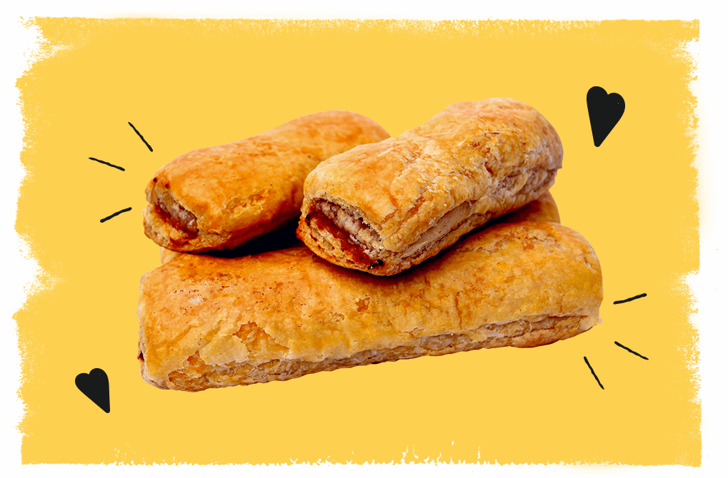 Two sausage rolls only £1.30